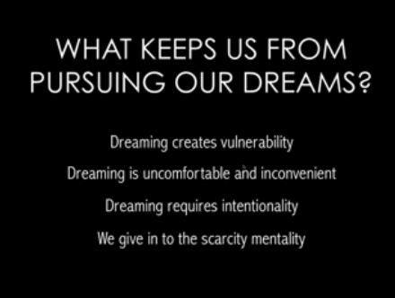 pursuing dreams