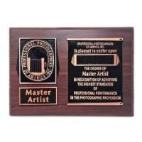 Master Artist Plaque