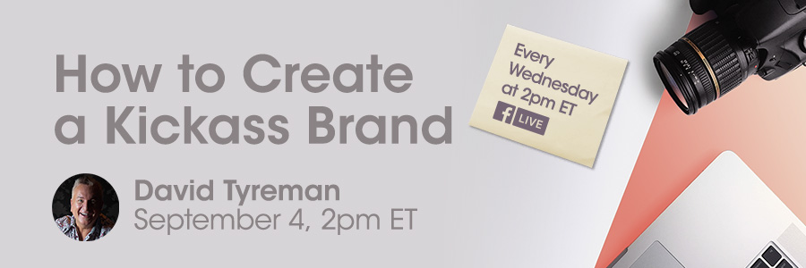 David Tyreman teaches photographers How to create a great brand for professional photographers of america on facebook live 2019