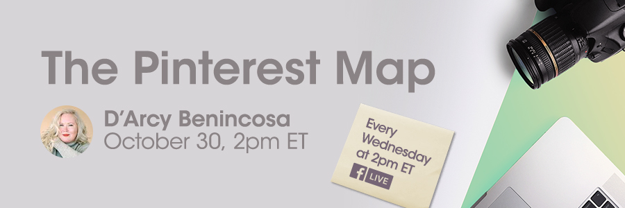 Darcy Benincosa The Pinterest Map for PPA, Professional Photographers of America, on Facebook Live