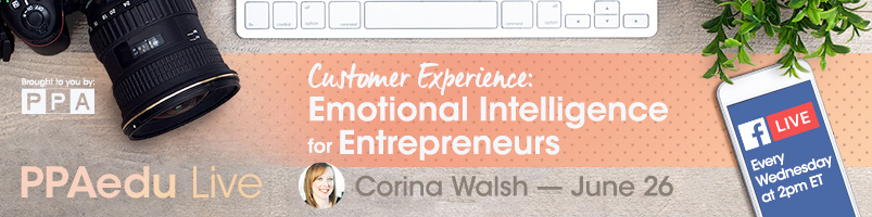 emotional intelligence for entrepreneurs with corina walsh for professional photographers of america on facebook live