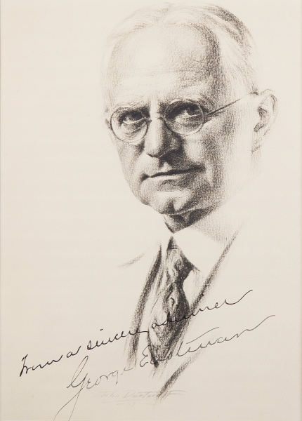 Photograph of Eastman Kodak Company founder George Eastman, signed: