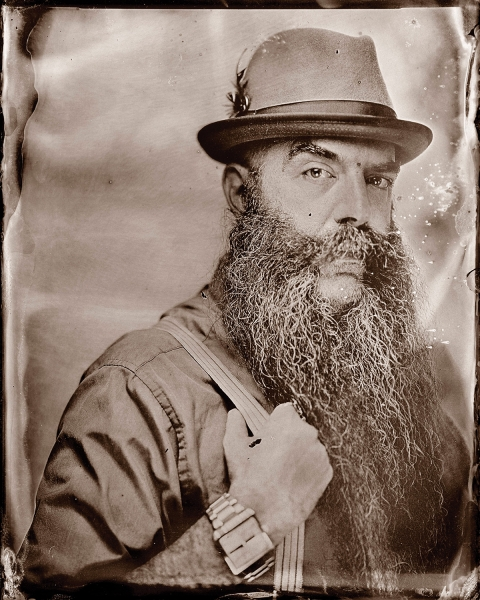 Greg Anderson experiments with tintype at the Beard and Mustache Championships, Greg Anderson portrait photography