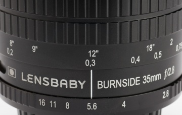 Although not a macro lens, the Burnside 35 focuses from 6 inches to infinity with apertures from f2.8 to f16. Build quality is excellent with a smoothly operating focus ring.