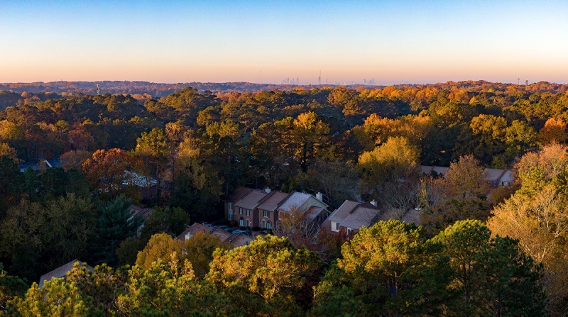 Early in my evaluation I made a flight over an Atlanta suburb to test the ND16 PL, which reduces light by four stops.