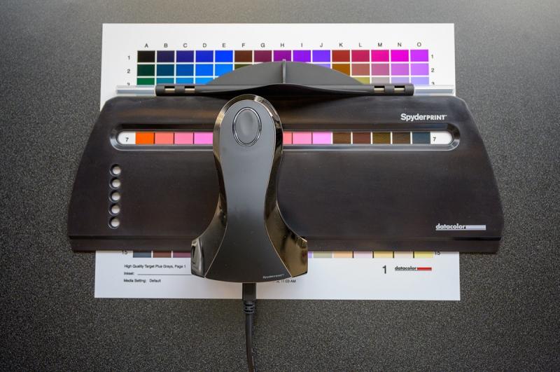 The setup for the Spyder Print profiles