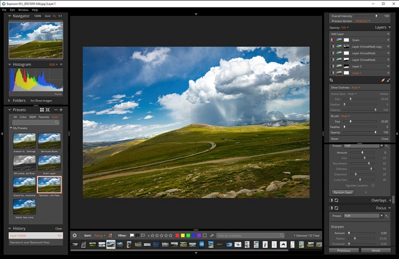 Applying a preset to an image