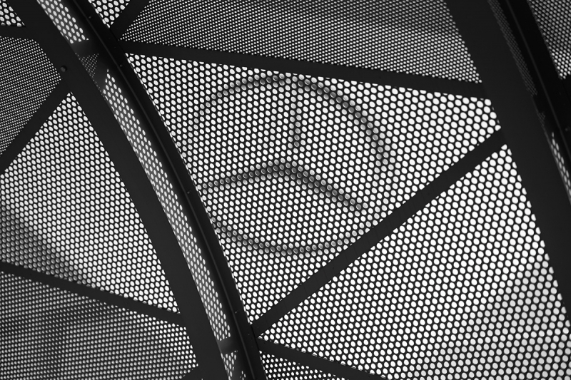 This detail image taken of the Mercedes Benz Stadium in Atlanta, Georgia, was exposed at f/1.4 for 1/6,400 second at ISO 100.